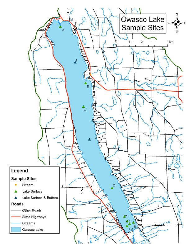 conesus lake fishing map Finger Lakes Owasco Limnology conesus lake fishing map