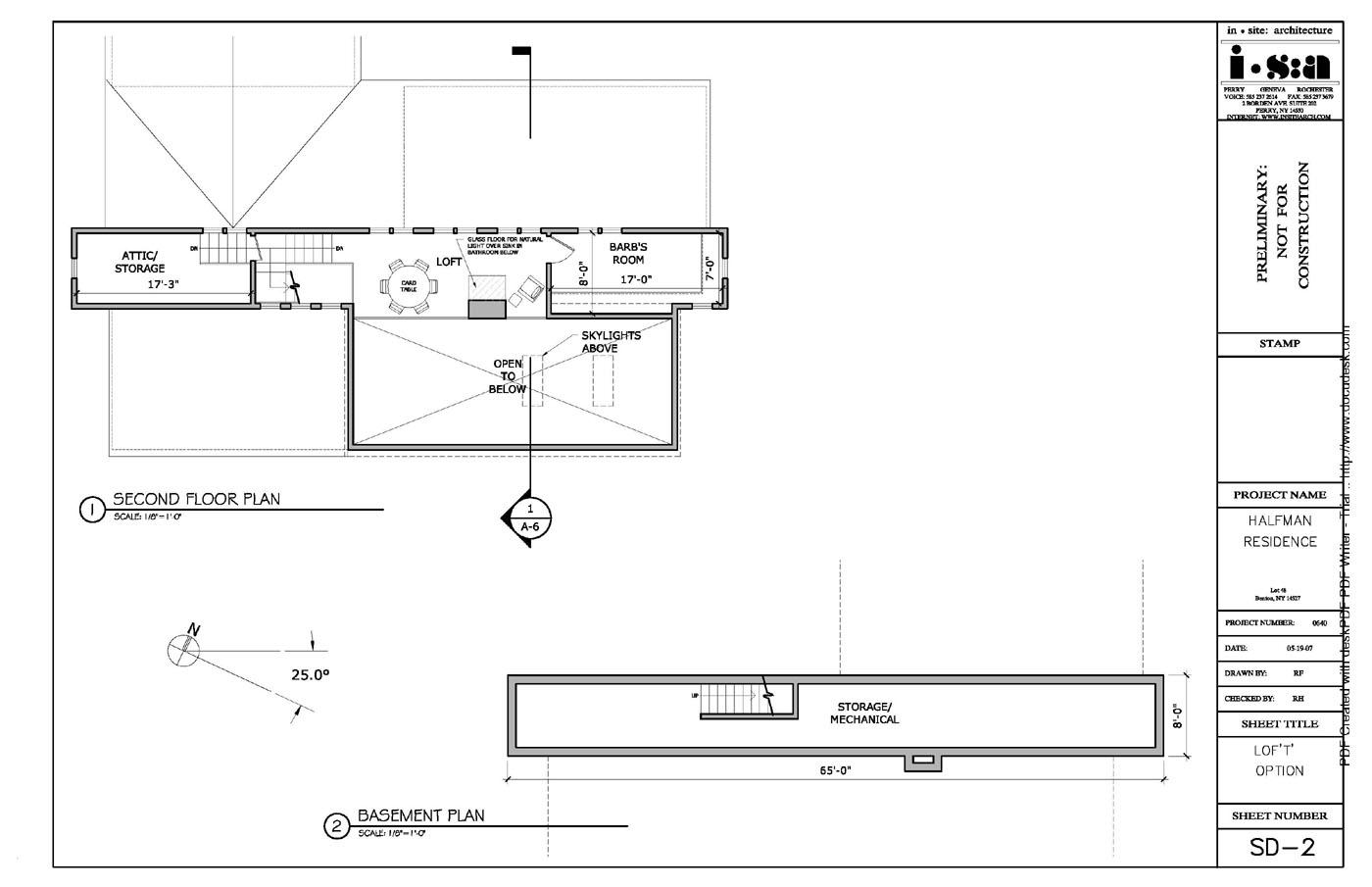 halfman s home preliminary floor plan 2nd floor basement